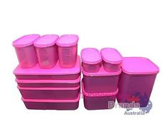 TUPPERWARE 12 PCs MODULAR MATES SET SPECIAL LIMITED RELEASE PURPLE FREEZERMATE