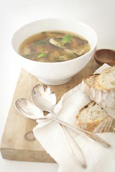 Shiitake White Bean Soup - from rawsilkandsaffron.wordpress.com