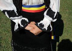 From Rosia Montana in the Apuseni Mountains area, A detail of an elegant 100 year old Transylvania Romania, Costumes, Popular, Elegant, Blouse, Montana, Folk, Traditional, Detail