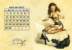 Calendario 2013: Abril | Gil Elvgren pin-up