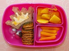 Kid's Lunches-This is a easy crown to make-It's an open faced cheese sandwich!  Need more lunch inspiration? We've got it  www.itswrittenonthewall.com