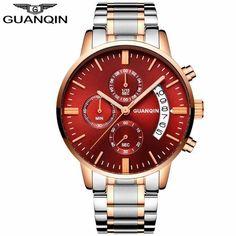 GUANQIN Casual Men Watch Luxury 2018 Fashion Men s Wrist Watch Date  Chronograph Gold Male Clock Man · Sportovní HodinkyNeformální ... 6e23780c37
