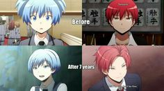 Nagisa, Karma, after 7 years, text, cool; Assassination Classroom