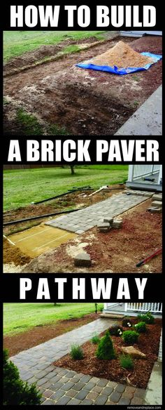 How To Build A Home Entrance Pathway With Inexpensive Brick Pavers - DIY!---for the backyard leading the the gate would be nice!