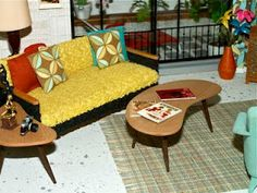 <3 this....retro miniature furniture  ggsdolls: July 2011
