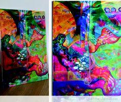 schilderproces abstract art