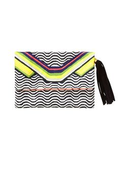 Sass & Bide - POWER DOWN Embroidered Clutch