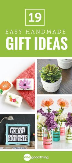 Save money and add a personal touch to your gifts this year by making them yourself! Here are 19 simple handmade gift ideas you'll love. #diygifts #homemadegifts #easygifts #OGT