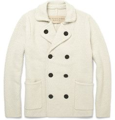 Burberry BritChunky Knit Cotton-Blend Cardigan