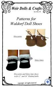 """Patterns for 12""""  & 16""""  Waldorf Doll Shoes"""