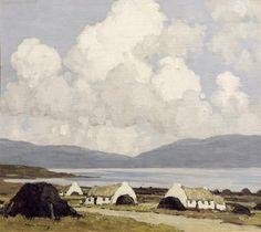 Drawing etc: Paul Henry, Irish landscape painter