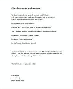 Payment Outstanding Reminder Letter Invoice Reminder Template - Outstanding invoice email template