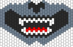Grey Wolf Full Face Mask Bead Pattern