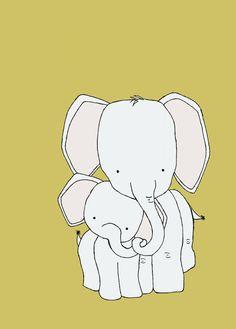 Elephant Nursery Art Print Nursery Decor por SweetMelodyDesigns, $10.00