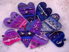 Midnight Hearts pendants and brooch pins | by Boxoftrix