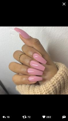 In search for some nail designs and ideas for your nails? Here's our list of 32 must-try coffin acrylic nails for fashionable women. Perfect Nails, Gorgeous Nails, Love Nails, How To Do Nails, Pretty Nails, Fun Nails, Ongles Roses Barbie, Ongles Roses Clairs, Faux Ongles Gel