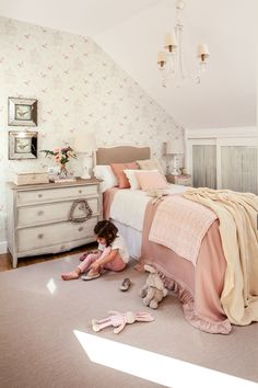 They are practical, easy to apply and change, finally, with their help, it is possible to give individuality to ✌Pufikhomes - source of home inspiration Teen Bedroom, Bedroom Decor, Old Fashioned Decor, Romantic Room, Cute Bedroom Ideas, Kids Wallpaper, Little Girl Rooms, Decoration, Home Decor