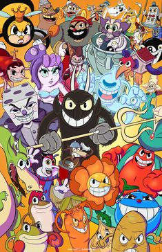 The Full Bleed Art — Coloring this took a lot longer than i thought,. Retro Cartoons, Old Cartoons, Vintage Cartoon, Cartoon Games, Cartoon Styles, Cartoon Art, Little Misfortune, Cuphead Game, Deal With The Devil