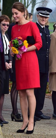 Comfort: The Duchess was introduced to a number of parents helped by EACH