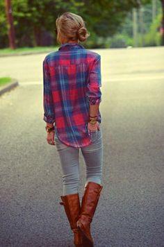 #plaid #fall #fashion #style  ~ i love this look!