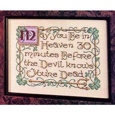 Irish Blessing Cross Stitch Pattern ePattern