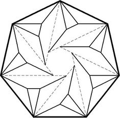 Box Origami, Origami Ball, Paper Crafts Origami, Paper Folding Designs, Origami Geometric Shapes, Motifs Blackwork, Origami Templates, Abstract Paper, Paper Wall Art