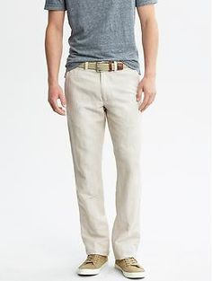 Straight-Fit Linen-Cotton Utility Pant. Great pants for lounging on the weekend. Very relaxed fit. Perfect for the patio.