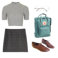 """""""Untitled #1855"""" by girlinlondon ❤ liked on Polyvore featuring Topshop and Fjällräven"""