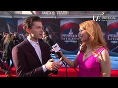 "Tom Holland Red Carpet Interview Captain America Civil War ♡♡ He is so adorable <3 ""Hey everyone"""