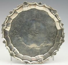 Lot 234 - A rare century Colonial waiter The Saleroom, Money Laundering, Online Bidding, 18th Century, Colonial, Auction, Silver, Money
