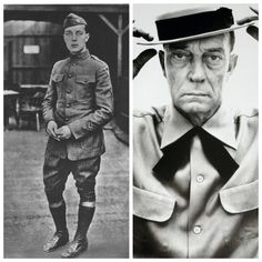 Buster Keaton-Army-WW1-served in France with the 40th Infantry Division (Actor)