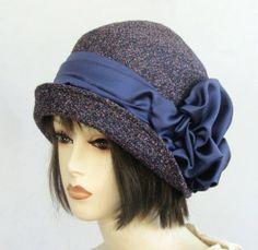 Handmade Vintage Inspired Fall Winter Cloche Hat