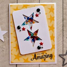 You Are Amazing Shaker Card