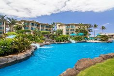 Waipouli #B-301: Garden view w/ a sliver of ocean view from the bedroom lanai