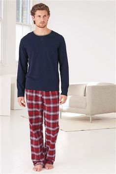Red Check Woven Set