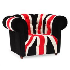 union jack armchair - Stay patriotic with our Union Jack series. Made from a plush microfiber and tufted for a classic look.