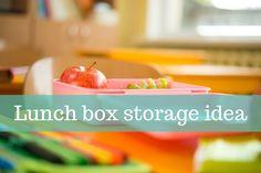Lunch box storage idea