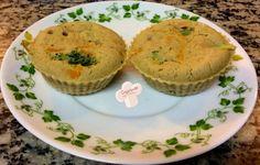 Cozinhando sem Glúten: Tortinhas de legumes com biomassa de banana verde (0v0. farinha de arroz, polvilho, biomassa)