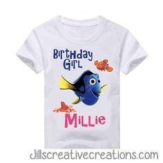 Finding Dory Birthday T-Shirt