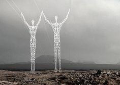 #design #inspiracja #architektura   Land of Giants  Postaci z nordyckich sag dźwigające kable energetyczne. Polecamy.  architekturawnetrz.pl/artykuly/rozne/land-of-giants/