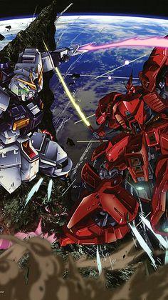 機動戦士ガンダム 逆襲のシャア Gundam Wing, Gundam Art, Manga, Battle Robots, Mecha Suit, Gundam Wallpapers, Gundam Mobile Suit, Mecha Anime, Gundam Model