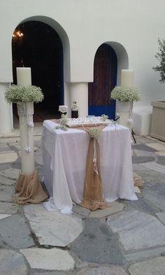 Στολισμός εκκλησίας και λαμπάδων στον Άγιο Γεώργιο στο Καβούρι με θαλασσινά στοιχεία. Δημιουργίες Vourlos Confetti  www.vourlos.com