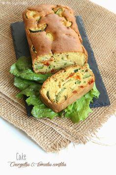 Cake courgettes-tomates confites sans gluten - vegan