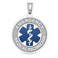 Sterling Silver EMT Medical ID Charm or Pendant