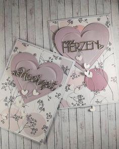 ich liebe es Worte zu Embossen, das gibt ihnen gleich eine grössere Wirkung☺️ #mundartstempel #mundart_stempel #iloveembossing… Card Wedding, Stamps, Love