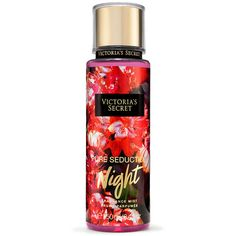 Victoria's Secret Pure Seduction Night Fragrance Mist ($18) ❤ liked on Polyvore featuring beauty products, fragrance, red, spray perfume and fruity perfume