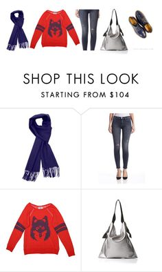 """Stylish Cozy Scarf 3"" by couturecandy on Polyvore featuring Sofia Cashmere, Hudson Jeans, Wildfox and Marie Turnor"