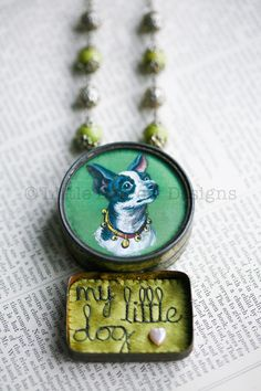 """My Little Dog"" Storybox Necklace – £195 