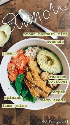 Tasty and easy to make vegan meals and recipe ideas! Healthy Meal Prep, Healthy Foods To Eat, Healthy Snacks, Healthy Eating, Healthy Vegan Meals, Vegan Recipes Easy, Vegetarian Recipes, Veggie Recipes, Food Goals