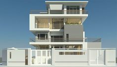Project: Villa in Dong Nai province on Behance Building Elevation, House Elevation, Small Apartment Design, Small Apartments, House Front Design, Modern House Design, Home Grill Design, Kerala House Design, New Home Designs